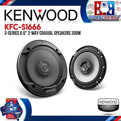 "Kenwood KFC-S1666 6.5"" 300W 2 Way Coaxial Stage Sound Series Speaker"