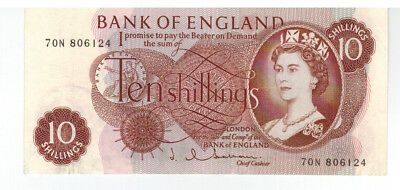 Great Britain Bank Of England 10 Shillings P#373 Nice Note