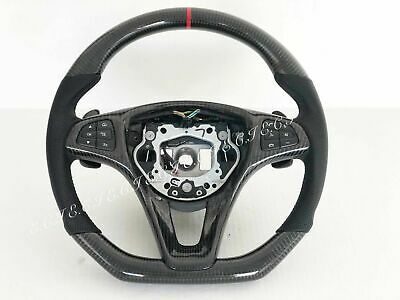 Genuine Mercedes W213 C Gla Cla E300 Glc Gle Gls E Carbon Fiber Steering Wheel