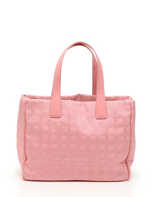 CHANEL NEW TRAVEL Line TPM Tote Bag Canvas Leather Pink -  461.00 ... 1d6c13f051b4f
