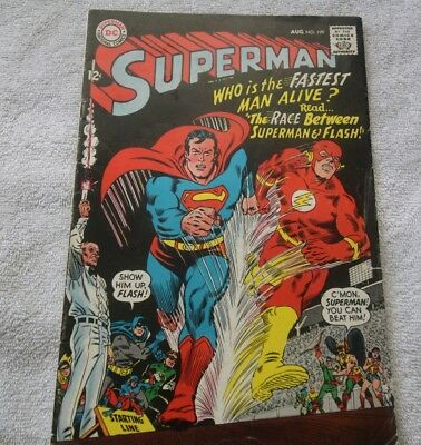 Superman #199 (Vol 1, 1967) - Superman and The Flash Race!