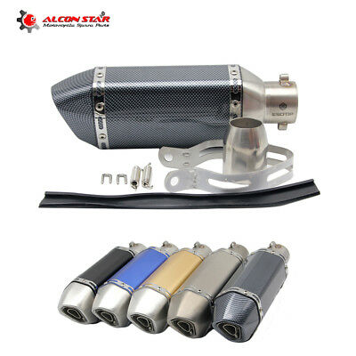 51mm Motorcycle Exhaust Muffler Pipe For GY6 YZR R6 CBR125 CB400 NINJA GSXR ER6N