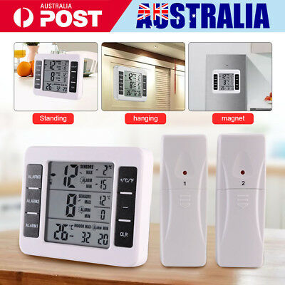 Wireless LCD Digital Freezer Indoor Outdoor Thermometer Alarm Magnet Sensor AU