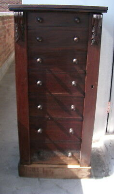 Antique Wellington Chest 7 Drawer Circa 1870 Rare Piece Of Furniture