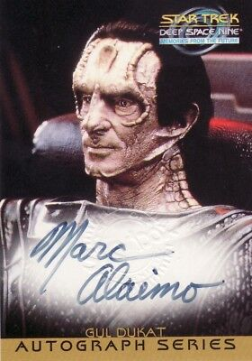 Star Trek Deep Space Nine DS9 MftF Marc Alaimo as Gul Dukat A16 Auto Card