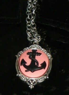 Cameo Necklace Collier Camée Marine anchor Ancre Marine Pin-up Gothic Gothique