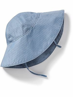 OLD NAVY Girl's Hat Size 0-6 months Chambray Sun Hat Cotton Blue New