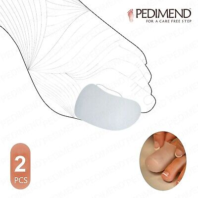 Soft Silicone Gel Big Toe Bandage Caps Prevent Sore Friction Pain PEDIMEND™ UK