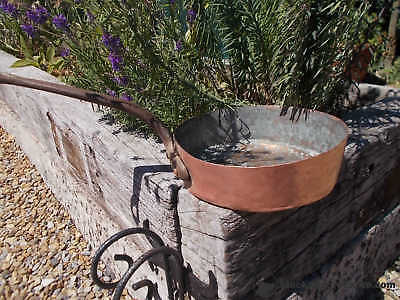 Fabulous Antique Hand Made Hammered French Copper Deep Saute Pan Ref T16/7