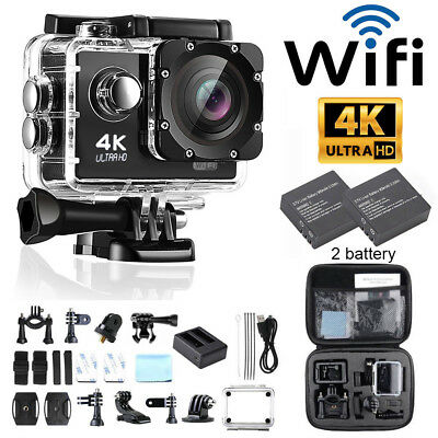 "Action Camera Ultra HD+4K/1080p WiFi 2.0"" waterproof Helmet Camera Sport DV Cam"