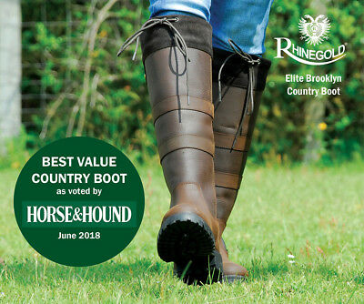 Rhinegold 'Elite' Brooklyn Leather Country | Horse Riding Boots | ALL SIZES Sale