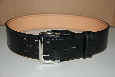 Police Officer Security Galls Sam Brown Duty Belt w/Nickel Buckle Size 30
