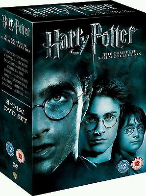 Harry Potter 1-8 Movie DVD Complete Collection Films Box Set New Sealed UK
