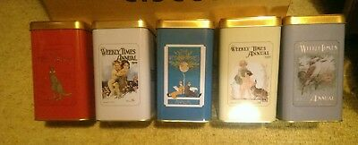 5Collectable Vintage Style Weekly Times Chocolate / Biscuit Tins Limited Edition