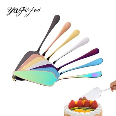 1pc Cake Shovel Stainless Steel Bread Pizza Knife Serrated Spatula Steaks Served