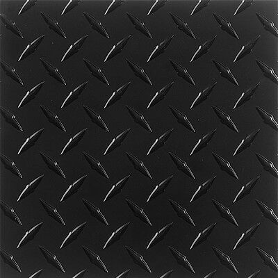 ".063 Matte Black Aluminum Diamond Tread Plate 7"" x 36"""