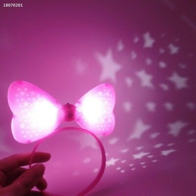 Women Glowing Five-Pointed Star Flashing Headband Bowknot Hairpin Party 3D1DCCF