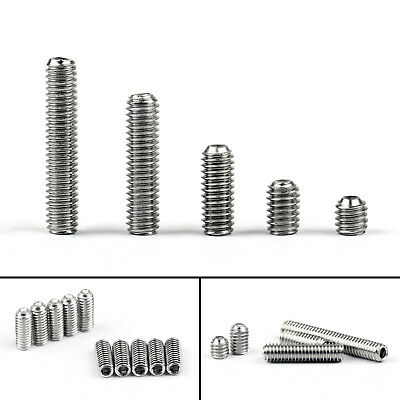 M3 304 Stainless Steel Hex Socket Set Screw With Cup Point Grub Schraube DIN916