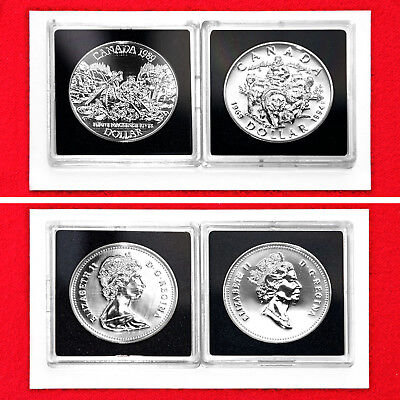 1989 & 1994 Canadian Commemorative Silver Dollars (2 Silver Coins) + Boxes