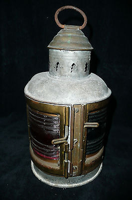 Vintage Brass Metal Perkins Perko Marine Lantern Port and Starboard