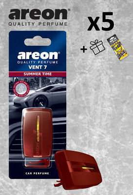 5x Areon Vent  *MIX* Car Air Freshener Quality Perfume + Free Gift