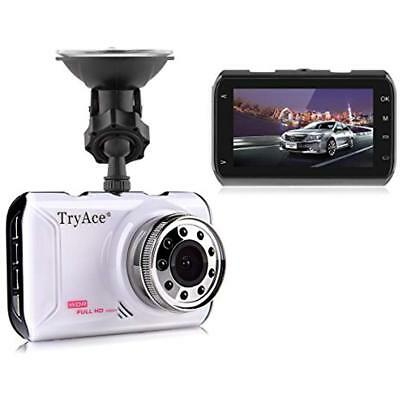 TryAce1080P Full HD Car DVR Screen Night Vision Touch Stop Ultra 170 FREE