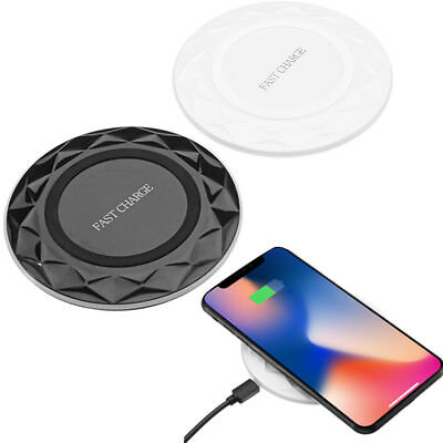 Wireless Qi Fast Charger Thin Charging Pad For iPhone 8/8P iPhone X Samsung S8