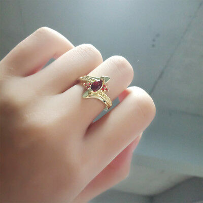 Artificial Stone Filled Luxury Women Ring Size 6-10 Gold Color Plated Ring
