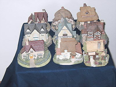 Set Of Nine (9 ) Collectible Old England'S Classic Cottages