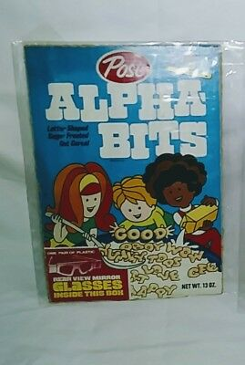 Vintage 1974 Post Alpha Bits Cereal Box Front & Back Free Shipping