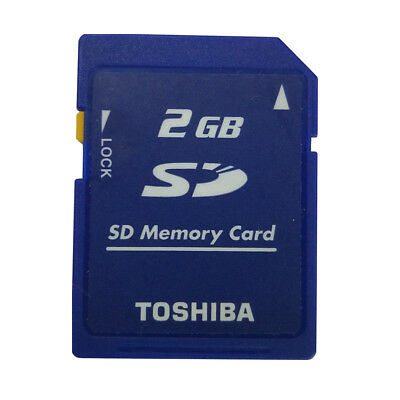 Toshiba 2GB SD Secure Digital Memory Card SD-M02G Class4 Standard Camera Genuine