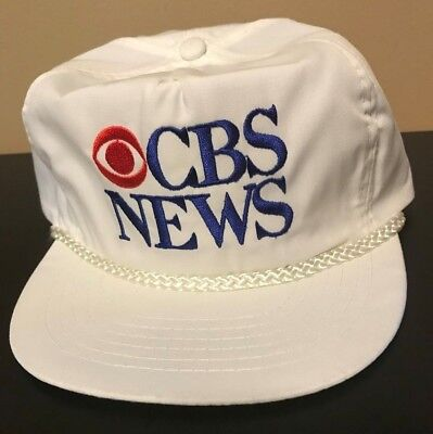Vintage 80s CBS Snapback Cap Hat TV Radio News Letterman Big Bang NCIS New  York 7afc63fdf1bb
