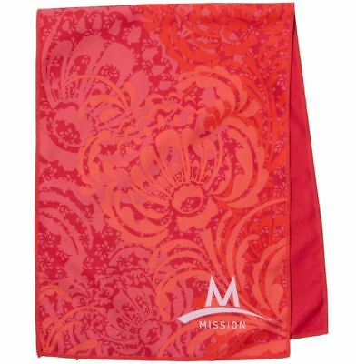 Mission Cooling Microfiber Towel Large Coral Pink Enduracool Gym Exercise 12x33