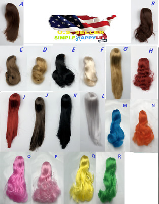 "1/6 Scale Woman Hair Wig 3.0 NEW Multi Colors For 12"" Female Head Sculpt ❶USA❶"