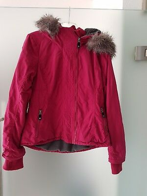 Ii Mit Bench Winter Damen Kidder Kapuze Fell Jacke Bordeaux 2EYIWH9D
