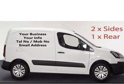 VAN CAR CUSTOM VEHICLE GRAPHICS SIGN WRITING KIT DECALS STICKERS LETTERING