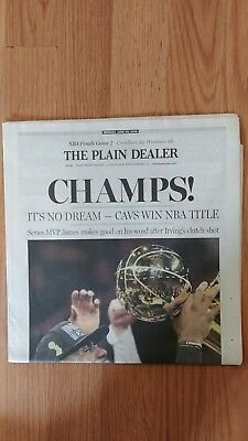28bef062768 Nba Championship Cleveland Cavaliers Plain Dealer Newspaper Dated 6-20-16