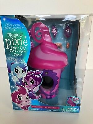 Of Dragons Fairies Wizards Pixie House Playset Accessories Pink Lights Animation