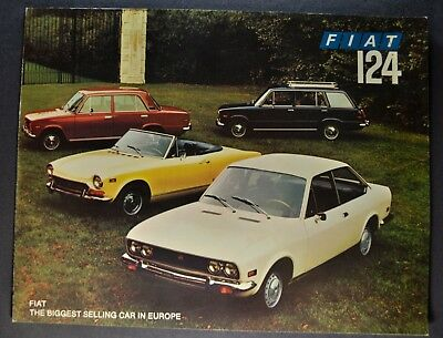 1972 Fiat 124 Catalog Brochure Spider Coupe Wagon Special Nice Original 72