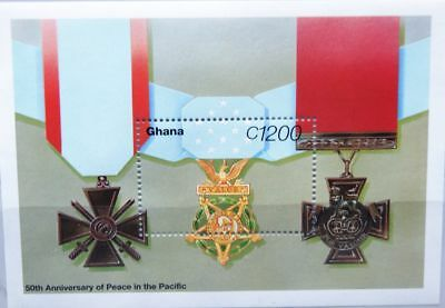 GHANA 1995 Block 283 S/S 1808 Military Medals End WWII Pacific WKII Krieg War **