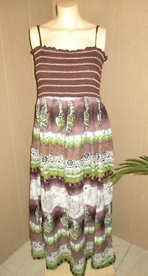 c3a6553fd9 Magic Empire Waist Dress Stretch Womens 1X 18 20 Sundress Gorgeous Long A28