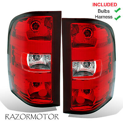 2007-2013 Replacement Tail Light Set For Chevy Silverado Pair w/Bulb and Harness