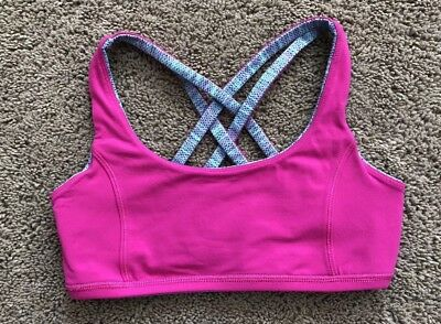 d3ea7e0e1877f Ivivva by Lululemon Vitality Reversible Sports Bra Girls Size 12 Hot Pink    Blue