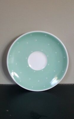 Vintage Susie Cooper Bone China Raised Spot Mint Green Saucer Replacement