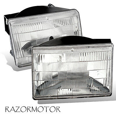 1993-1998 Replacement Headlight Set For Jeep Grand Cherokee Pair w/Bulb