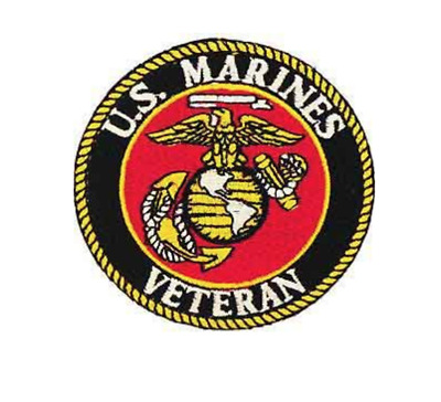 US Marine Corps Veteran Iron On Patch 3 inch Free Ship Officially Licensed P2319