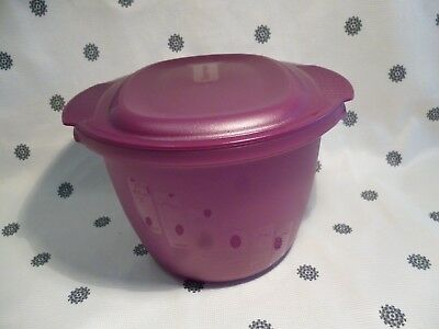 Tupperware Large 3L Microwave Round Pasta Cooker + Pasta Tongs Purple New