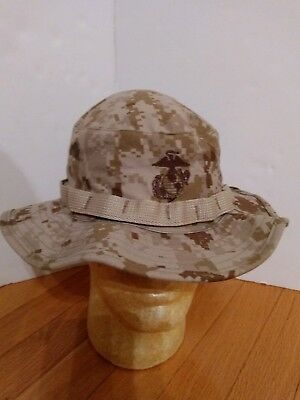 86dcb261e47af New USMC Camo Boonie Hat Cap Desert Digital Tan