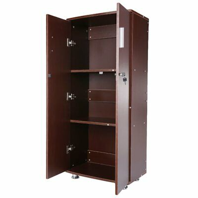Lockable Modern 3 Shelves Storage File Cabinet Cupboard For Home Office Study AY