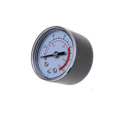 0-180PSI Air Compressor Pneumatic Hydraulic Fluid Pressure Gauge 0-12Bar LR